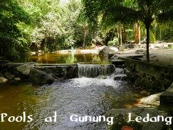 Bathing Pools at Gunung Ledang National Park