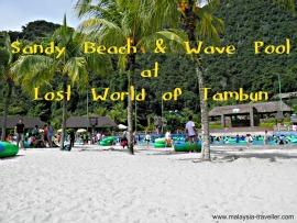 The Beach and wave pool at Lost World of Tambun