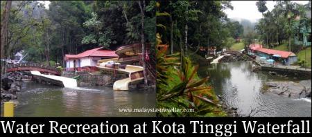 Water slides and pools at Kota Tinggi Waterfall