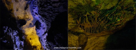 Rock curtain formations at Gua Kelam