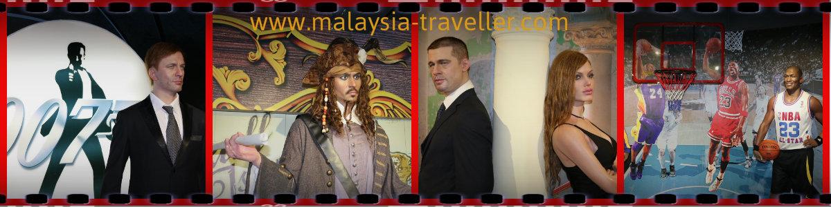 Movie stars at Red Carpet Wax Museum