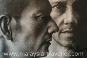 3 Heads in charcoal by Ahmad Zaki Anwar