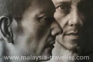 3 Heads in charcoal by Ahmad Zaki Anwar