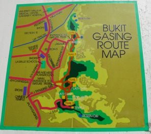 Map of Bukit Gasing