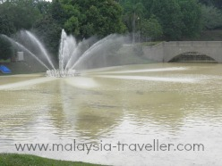 Lake at Bukit Jalil Park