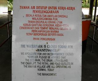 Bukit Merah Waterpark was closed for maintenance.