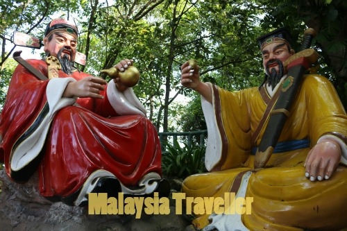 Eight Immortal Statues at Then Sze Temple, Seremban