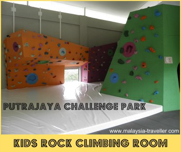Kids Rock Climbing Wall at Putrajaya Challenge Park