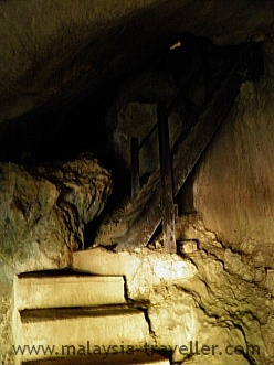 Steps leading to the main cave at Fairy Cave, Sarawak