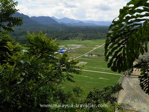 View from an opening in Fairy Cave, Bau, Sarawak