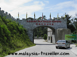 Entrance Gate to Gaharu Tea Valley