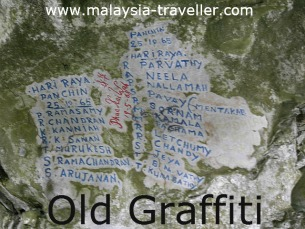 Old Graffiti at Gua Charas