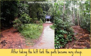 The climb up Gunung Lambak gets steeper from here.