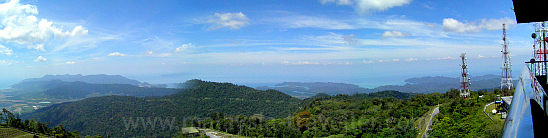 View from top of Gunung Raya