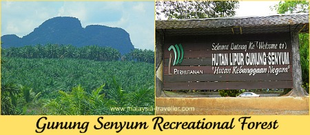 Gunung Senyum Caves are located here.