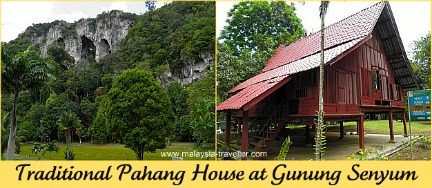 Traditional Pahang House at Gunung Senyum Caves