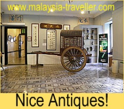 An antique carriage on display at the Hotel Puri.
