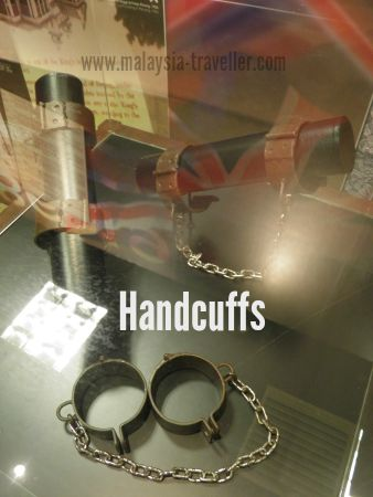 Handcuffs used during colonial period