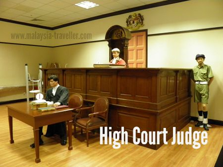 Mock up of High Court trial