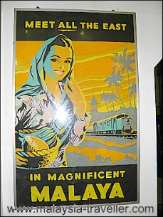 Poster at Mini Museum, KL Railway Station
