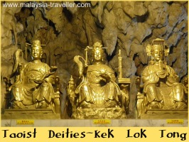 Taoist Deity statues at Kek Lok Tong