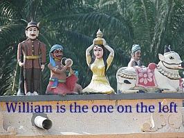 Kellie-Smith's effigy at the Hindu Temple