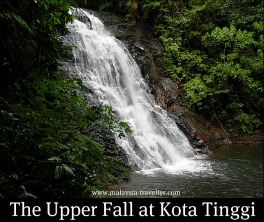 The upper cascade at Kota Tinggi Waterfall
