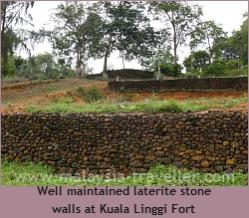 Walls of Kuala Linggi Fort
