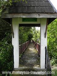 Entrance to boardwalk.