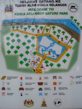 Map of Kuala Selangor Nature Park