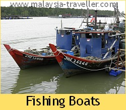 Fishing Boats at Kukup Fishing Village