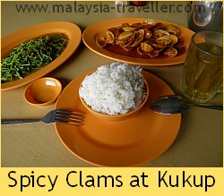 Spicy clams at Kukup