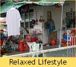 Relaxed way of life at Kukup
