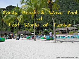 The Beach and wave pool at Lost World of Tambun