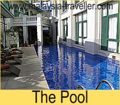 The swimming pool at The Majestic Malacca