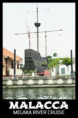 Catch the Melaka River Cruise near the Flor De La Mar