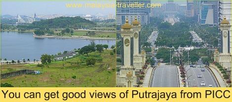Views of Putrajaya from PICC