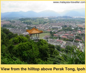View from the peak above Perak Tong, Ipoh