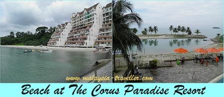 Corus Paradise Resort Beach, Port Dickson
