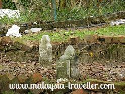 Graves on Pulau Besar