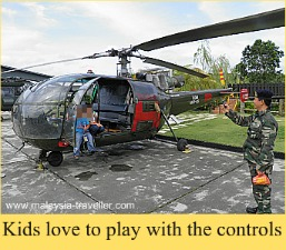 Kids enjoy playing pilots at the RMAF Museum.