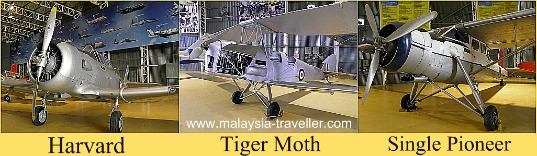 Aircraft on display at the RMAF Museum