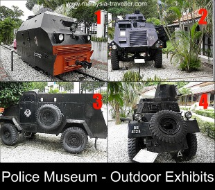 Outdoor Exhibits at the Royal Malaysian Police Museum
