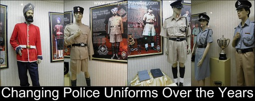 Changing police uniforms over the years
