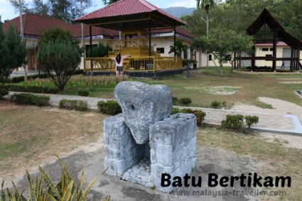 Relics in the grounds of Royal Museum Sri Menanti