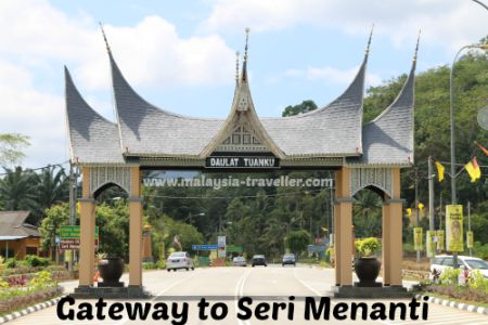 Drive through this archway to reach Seri Menanti