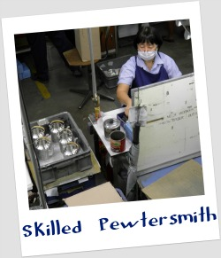 Skilled staff at Royal Selangor's factory