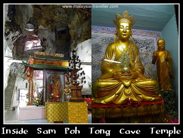 The interior of Sam Poh Tong Cave Temple