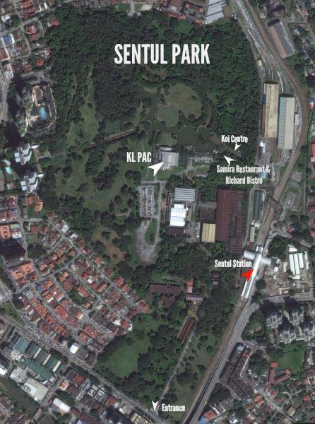 Map of Sentul Park