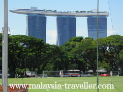 Marina Bay Sands from the Padang